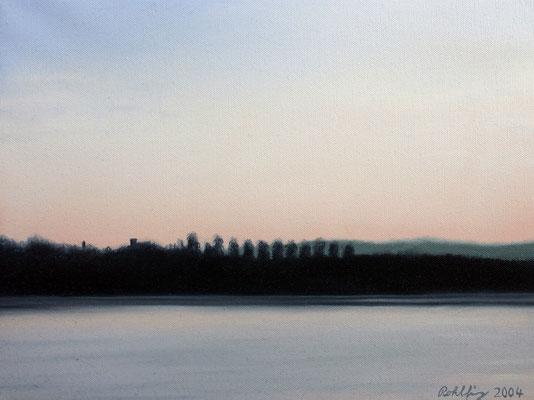 2004 Lago di Varese6 Öl auf Leinwand 30x40 cm