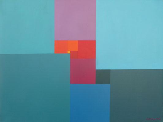 2013, Perfektes Rechteck  13-75x56, Öl auf Leinwand, 60x80 cm