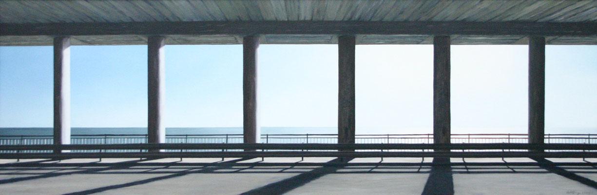 2002 Tempio moderno Öl auf Leinwand 60x180 cm