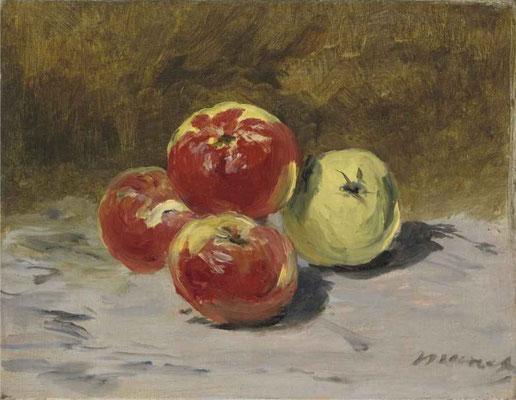 Édouard Manet, Quatre pommes, 1882, Öl auf Leinwand, 19x24,5 cm