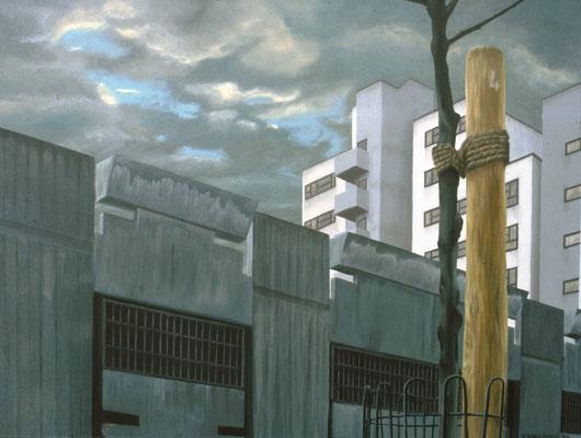 1984 Die Mitte Berlins Öl auf Leinwand 90x120 cm