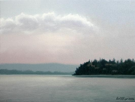 2004 Lago di Varese5 Öl auf Leinwand 30x40 cm