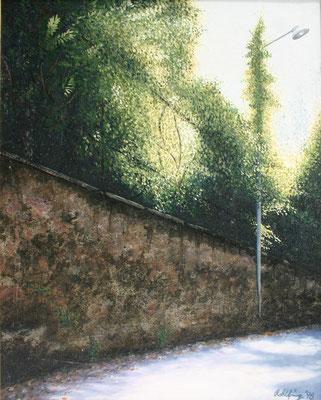 1998 Via Tabacchi Mischtechnik auf Leinwand 40x30 cm