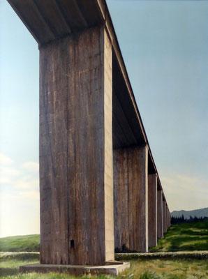1999 Autostrada dei fiori2 Mischtechnik auf Leinwand 120x90 cm