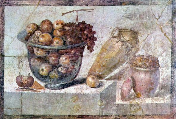 Pompejanischer Maler um 70 n. Chr. Wandmalerei, 70x108 cm