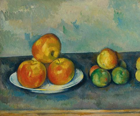 Paul Cézanne, Les Pommes, 1889/1890, Öl auf Leinwand, 38x45,7 cm