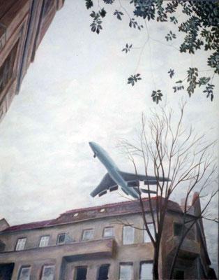 1974 Einfluggschneise Öl auf Leinwand 70x50 cm