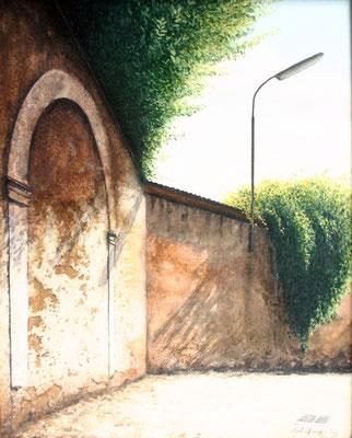 1998 Der Bogen Mischtechnik auf Leinwand 40x30 cm