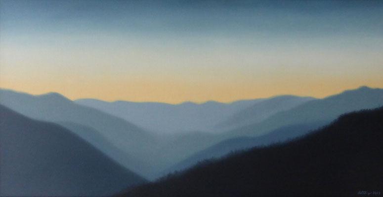 2002 Valle d'Aroscia1 Öl auf Leinwand 60x120 cm