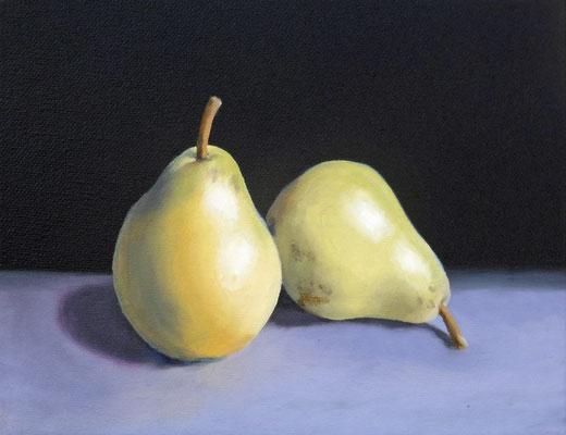 2019 Birnen (Hommage à Manet) Öl auf Leinwand 18x24 cm