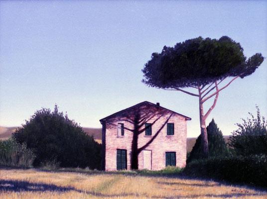 1997 Der Schatten der Pinie Ölauf Leinwand 60x80 cm