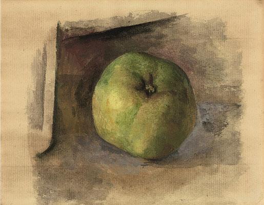 Pablo Picasso, Pomme, 1914, Guache und Aquarell auf Papier,  13,5 x 17,7 cm