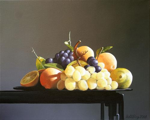 2009 Früchteschale Öl auf Leinwand 50x60 cm