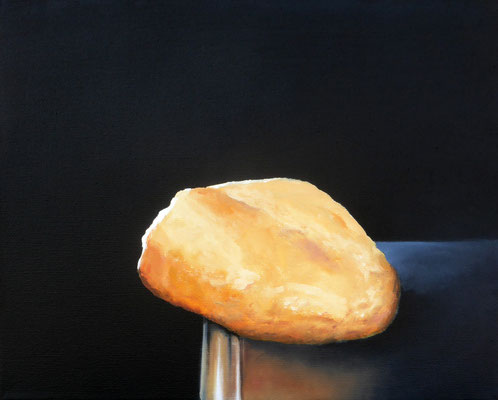 2019 Brot (Hommage à Dalì) Öl auf Leinwand 24x30 cm