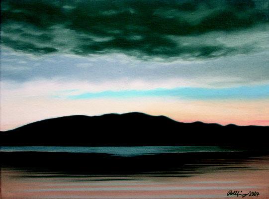 2004 Lago di Varese1 Öl auf Leinwand 30x40 cm