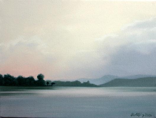 2004 Lago di Varese4 Öl auf Leinwand 30x40 cm