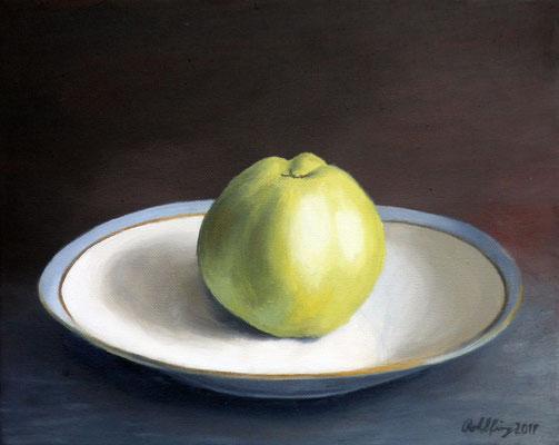 2019 Apfel (Hommage à Manet) Öl auf Leinwand 24x30 cm