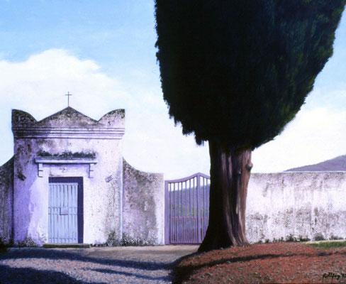 1997 Friedhof in der Toscana Mischtechnik auf Leinwand 80x100 cm