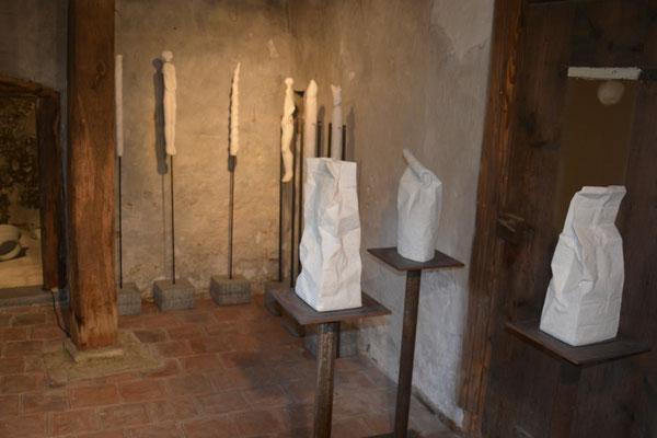 Mehlsäcke aus Stein
