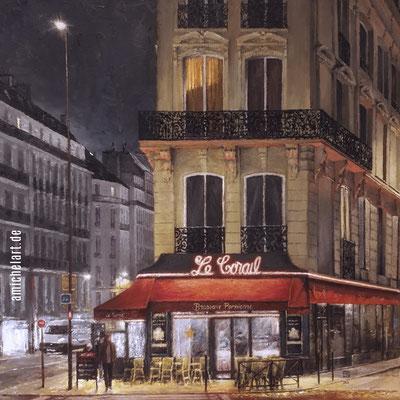 Paris: le Corail - 2019, 40 x 40 cm, Öl auf Leinwand