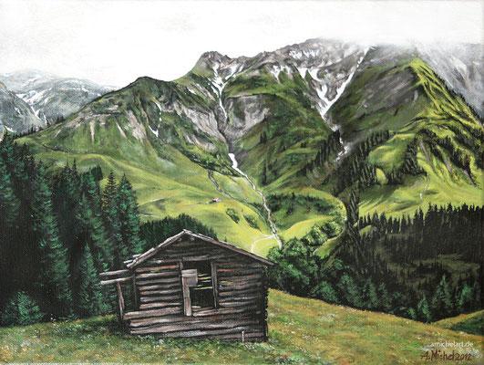 Alpen - 2012, 30 x 40 cm, Acryl auf Leinwand