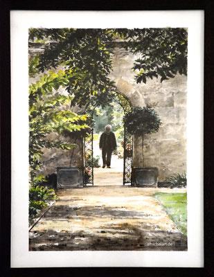 Oxford Garden - 2016, 21 x 30 cm, Aquarell auf Papier