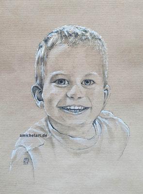 Leon - 2019, 21 x 29 cm, Filzstift auf Papier