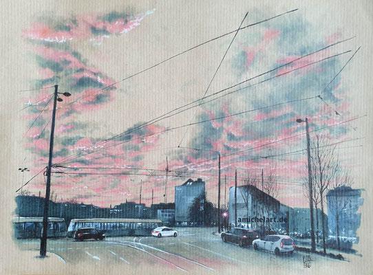Leipzig - 2020, 21 x 29 cm, Filzstift auf Papier