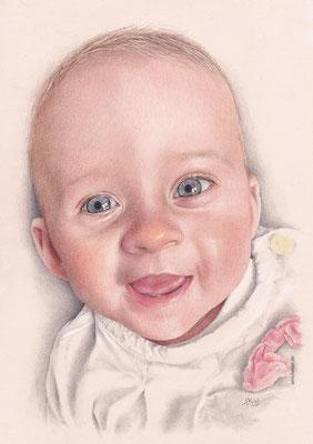 Baby - 2015, 21 x 30 cm, Buntstift auf Papier