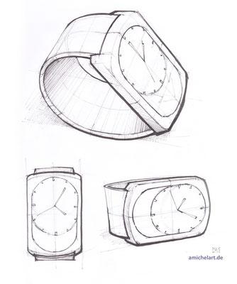 Konzeptskizzen für Designprojekt