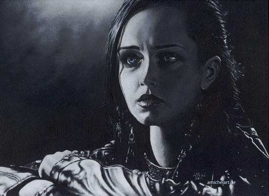 Sin City - 2011, ca. 19 x 25 cm Acryl auf Karton