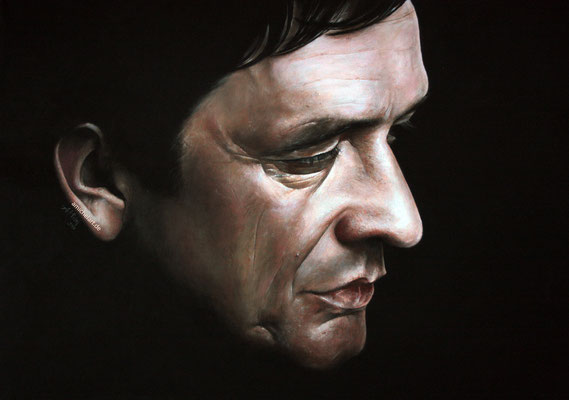 Johnny Cash - 2013, 50 x 70 cm, Acryl auf Leinwand
