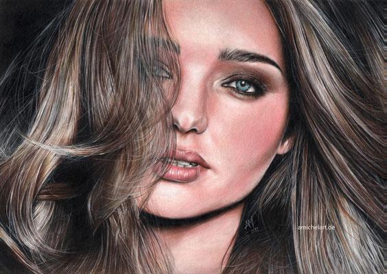 Miranda Kerr - 2013, 23 x 32 cm, Buntstift auf Karton