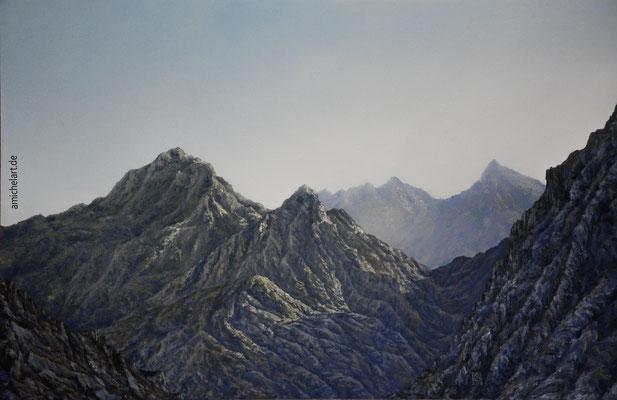 Das Rote Gebirge - 2018, 40 x 60 cm, Öl auf Malkarton