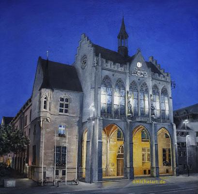 Das Erfurter Rathaus - 2020, 40 x 40 cm,  Öl auf Karton