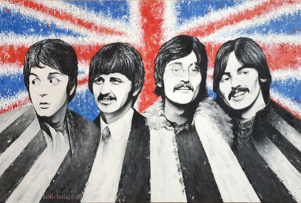 The Beatles - 2019, 40 x 60 cm, Öl/Acryl auf Leinwand