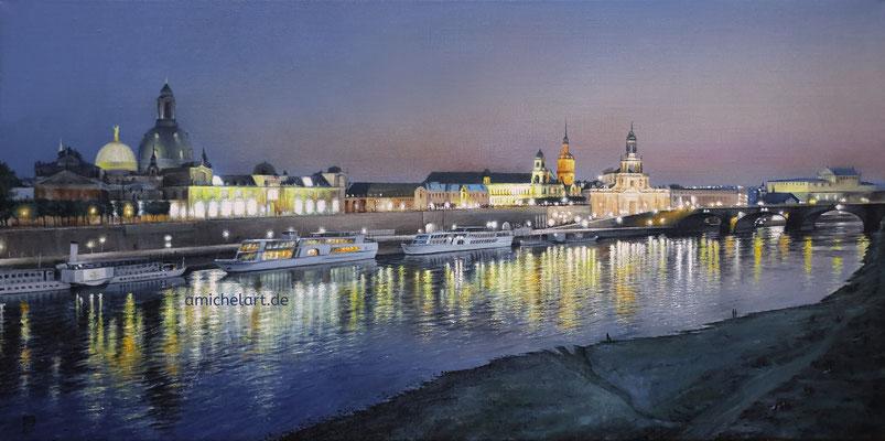 Dresden - 2021, 40 x 80, Öl auf Leinwand