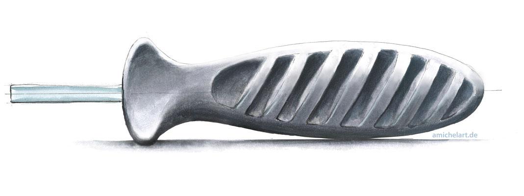 """Handskizze für Designstudie """"Schraubenziehergriff"""""""
