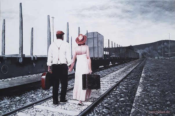 Das Brautpaar - 2018, 40 x 60 cm, Acryl auf Leinwand