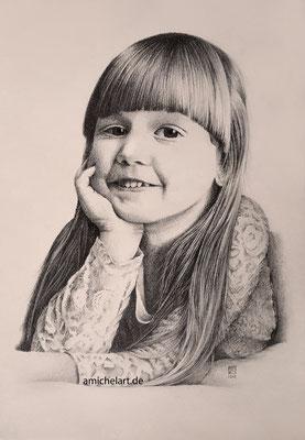 Die Tochter - 21 x 29 cm, Bleistift auf Karton