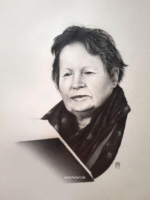 Renate - 2016, 21 x 29 cm, Bleistift auf Karton