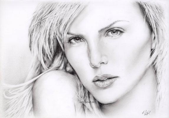 Charlize - 2008, 21 x 30 cm, Bleistift auf Papier