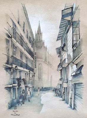 Palma de Mallorca - 2019, 21 x 29 cm, Filz-/Buntstift auf Papier