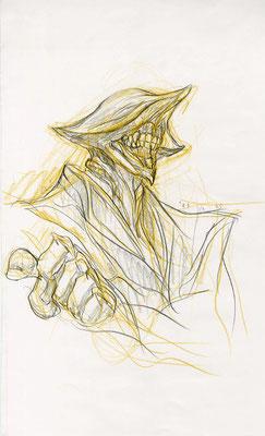 2009.10.25 画材:鉛筆 この方、先生みたいな感じがするんですが、何で描いたか覚えていません。ただ一日一回は必ず歯茎を描かずにはいられない習慣がありました。