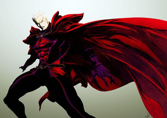 2012.04 Magneto マグニートー ガチムチマグナスもいいけど、ファスベンダーが新鮮で良かった!筋肉見えなくなっちゃいましたね…でも黒に落とした方が、かっこいいと判断しました。