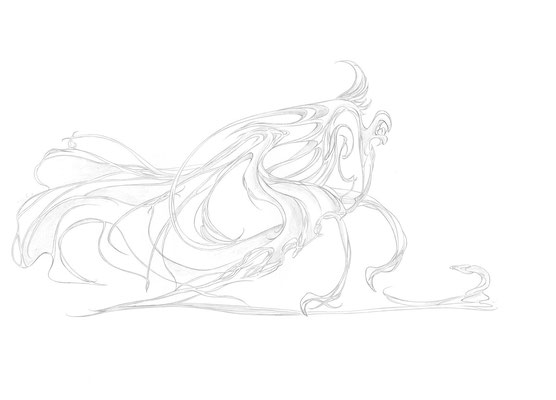 2011.6.3 画材:鉛筆 習作トレス、線画クリンナップの練習用に描きました。活かされてる!はず!