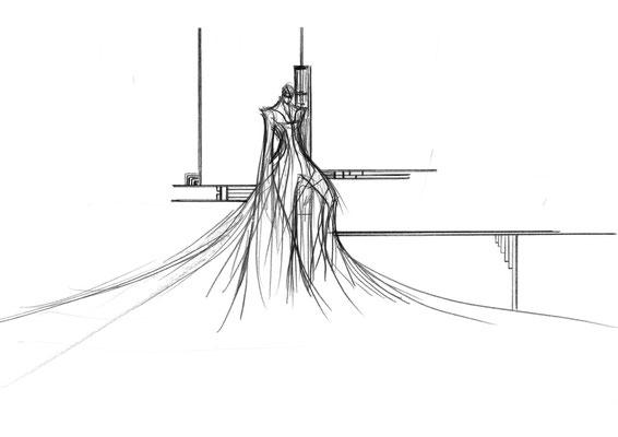 2011.6 画材:鉛筆 これを描くときは空間的なイメージが先行したかな。