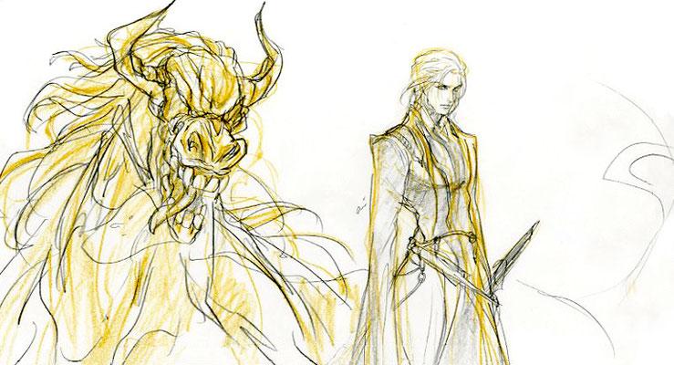 2009.10.10 画材:鉛筆 神話のモチーフを参考にして、どうしようかなぁと模索中のもの。