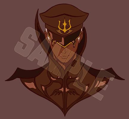 鉛筆,デジタル スイーツ擬人化企画のキャラクター。ザッハトルテ将軍です。