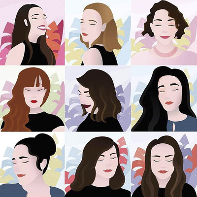 Une série de portraits de femmes - pour les curieux c'est par là